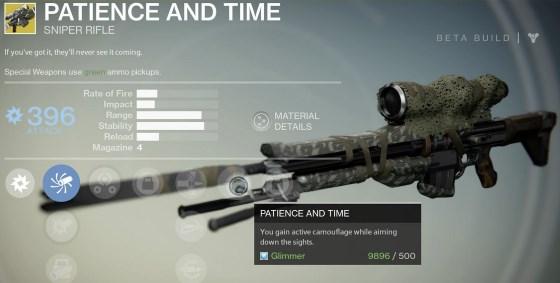 Geduld und Zeit: Waffe bei Destiny Xur in dieser Woche im Angebot