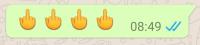 Der neue Mittelfinger-Smiley auch auf dem iPhone?