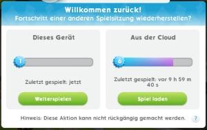 Sims Mobile Spielstand übertragen und wiederherstellen