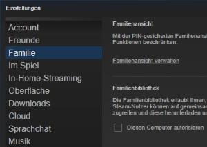 Steam Spiele teilen: Bibliothek freigeben (Anleitung)