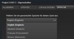 Steam Sprache ändern