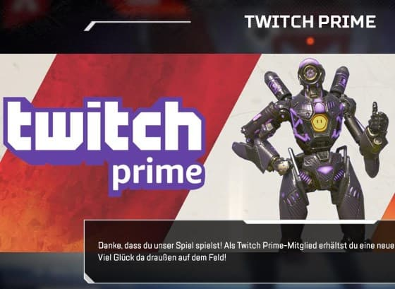Apex Legends: Twitch Prime Loot bekommen
