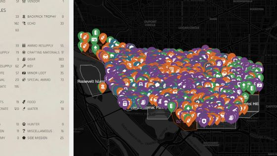 The Division 2 interaktive Karte