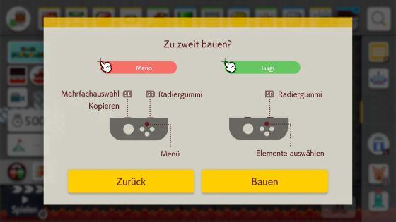 Super Mario Maker 2 zu zweit bauen