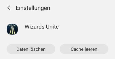 Wizards Unite Account löschen