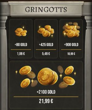 Wizards Unite Gold bekommen