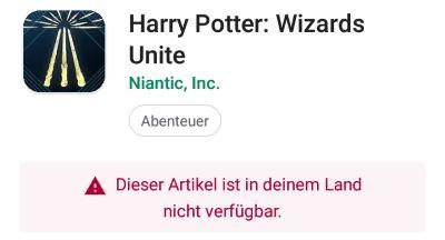 Wizards Unite nicht verfügbar: Was tun?