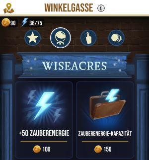 Zauberenergie mit Goldmünzen kaufen