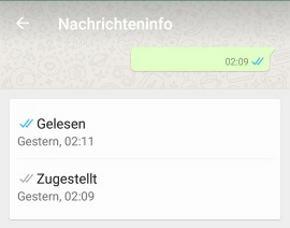 whatsapp zwei graue haken