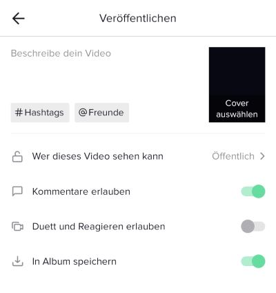 Tiktok Videos Speichern