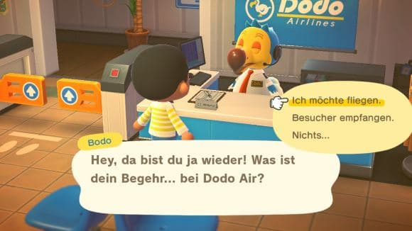 Animal Crossing New Horizons Freunde besuchen