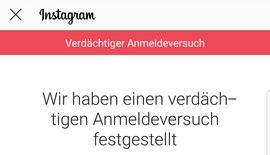 Instagram verdächtiger Anmeldeversuch: Kein Code, wie umgehen?