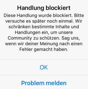 Bei instagram blockiert liken Instagram