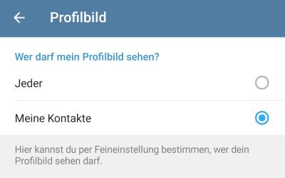 Telegram Wer Sieht Mein Profilbild
