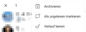 Telegram Chat Archivieren