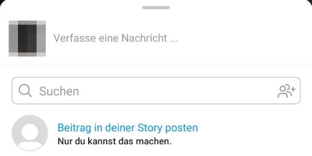 Instagram Beitrag in Story teilen fehlt: Was tun?