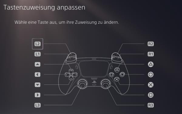 PS5 Controller Tastenbelegung einstellen