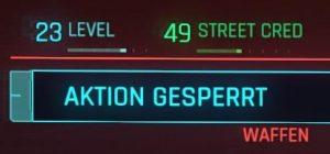Cyberpunk 2077 Kleidung gesperrt