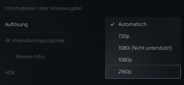 PS5 WQHD einstellen?