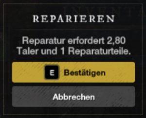 New World Waffen reparieren