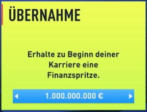 FIFA 22 Finanzspritze einsetzen