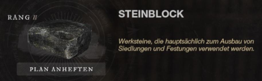 New World Steinblöcke